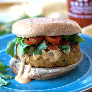 Sweet Potato Falafel Burgers