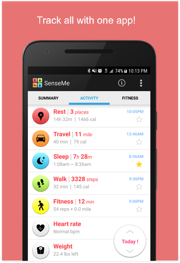 Pedometer & Fitness Tracker- screenshot