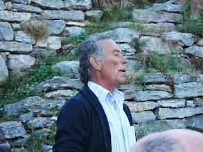 Photo: Der Organisator und Bauer bei der Bergrüssung