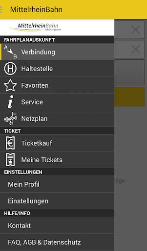 MittelrheinBahn Info Ticket