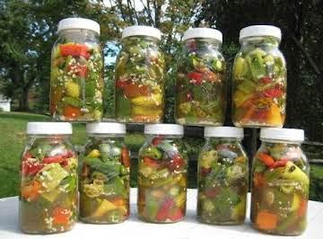 Ricetta Inscatolata Del Pepe (Pickled Peppers)