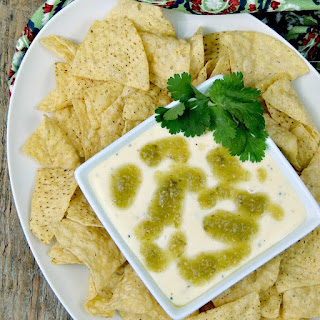 Slow Cooker Queso Blanco with Salsa Verde Vinaigrette