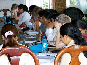Photo: Prayer during the workshop