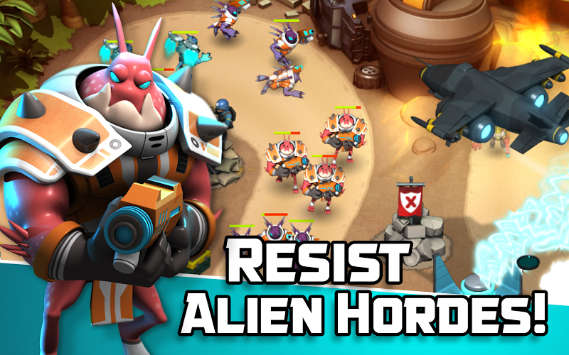 Alien Creeps TD - Epic tower defense Screenshot 1