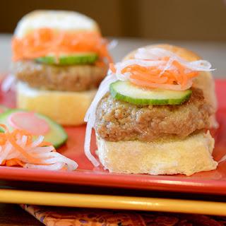 Chicken Burger Banh Mi Sandwich.