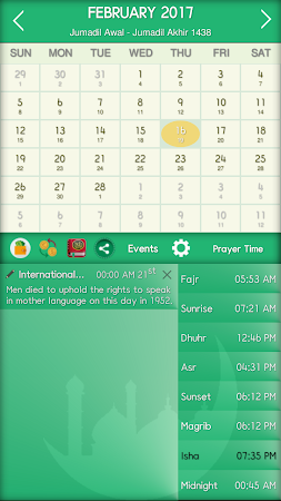 Islamic Calendar & Prayer Time 1.8 screenshot 2081429