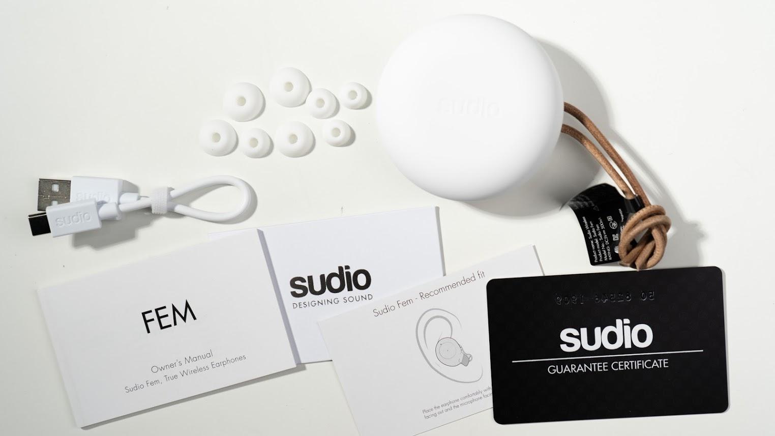 時尚、質感真無線藍牙耳機!瑞典 Sudio Fem 開箱