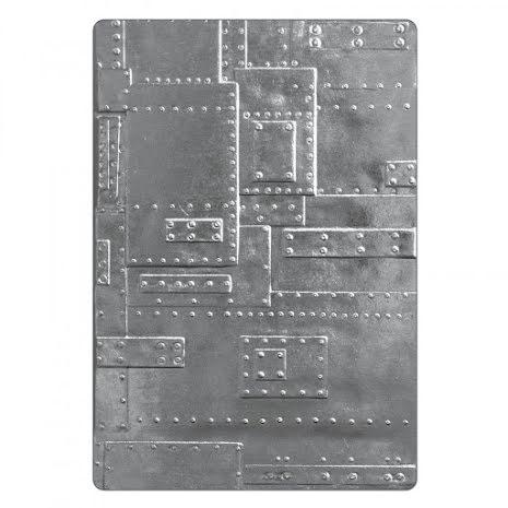 Tim Holtz Sizzix 3-D Texture Fades Embossing Folder - Foundry