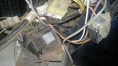 Photo: Dużo tego się zmieściło w błotniku za lampą...
