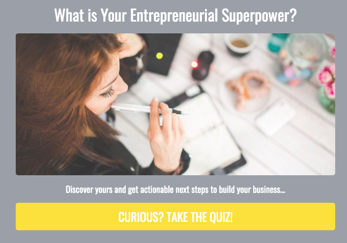 What's your entrepreneurial superpower? quiz cover