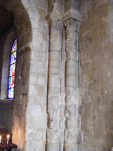 Photo: The age of the church becomes apparent in the condition of the pillars and walls here.