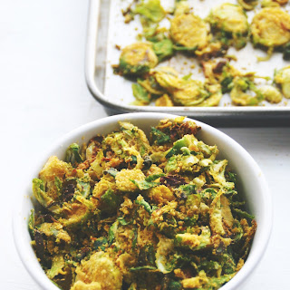 CHEESY BRUSSELS SPROUT CHIPS.