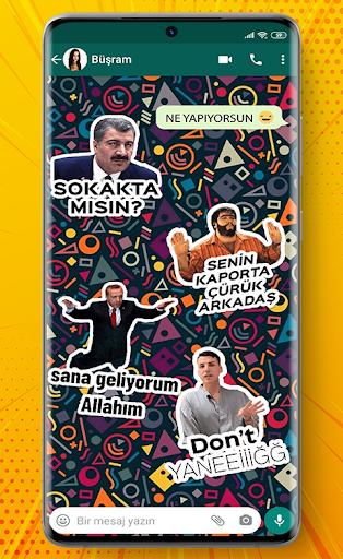 Türkçe Sticker ve Mizahi Sticker for WhatsApp screenshot 2