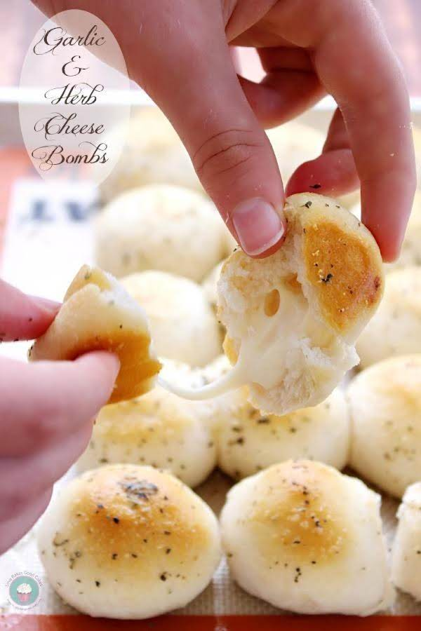 Garlic Herb & Cheese Bombs