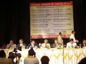 """Photo: Dr. Adish C. Aggarwala  at National Seminar on """"Justice to All"""" at Delhi."""