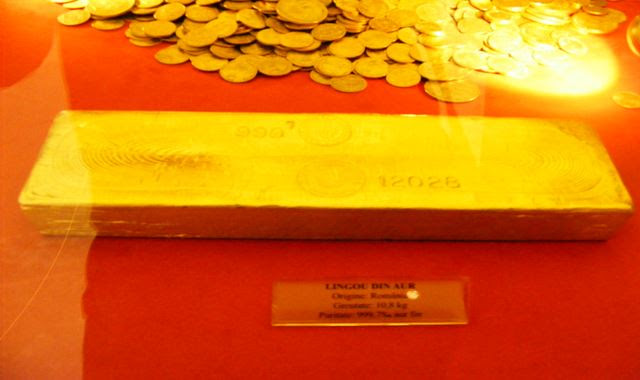 GOLD BAR AT NATIONAL BANK IN BUCHAREST