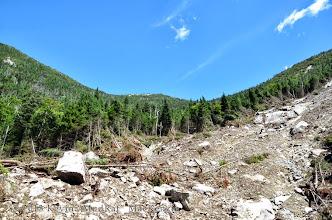 Photo: Debris field is 100+ feet wide.