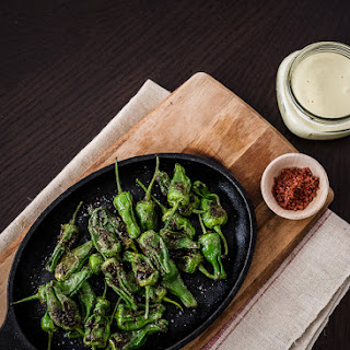 Blistered Padrón Peppers with Buttermilk Aioli