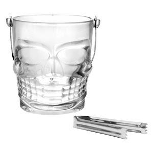 Frapiera din sticla, forma de Craniu 900 ml, cleste metalic inclus