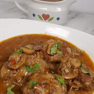 Pressure Cooker Salisbury Steak W/Onion Mushroom Gravy Recipe