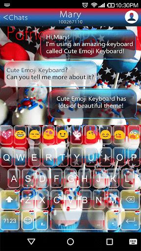 Patriotic Emoji Keybaord Theme