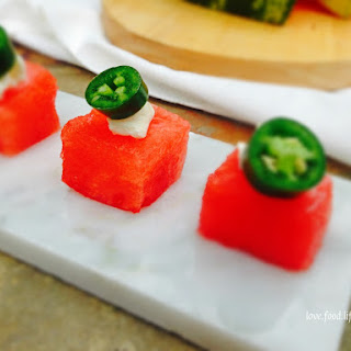 Watermelon & Serrano Chili Bites