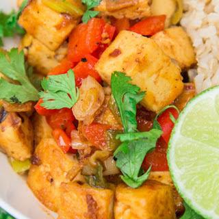 Thai Red Coconut Curry Tofu [Vegan] Recipe