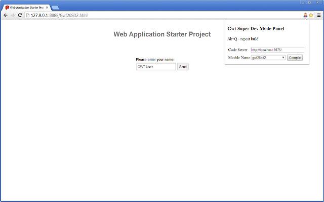 GWT Super Dev Button