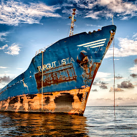 Wreck by Panait Sorin - Transportation Boats ( wreck, navigation, navy, boats, water )