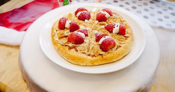 Milano Pizzeria義大利米蘭手工窯烤披薩(台北中山店),與姐妹慶祝聖誕節大餐,很有氣氛又可愛的雪人拿破崙草莓披薩!四平街美食松江南京餐廳