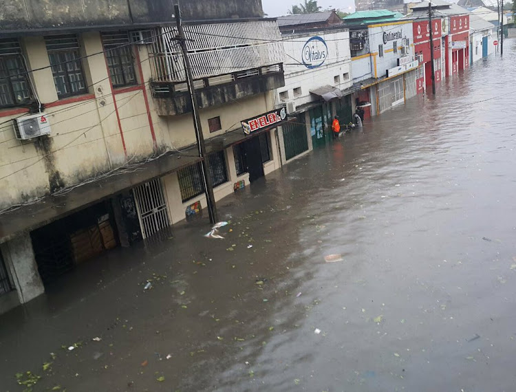 The streets of Beira in Mozambique after tropical storm Desmond made landfall on January 22. The country is now bracing itself for tropical cyclone Idai, which is due to make landfall on Thursday.