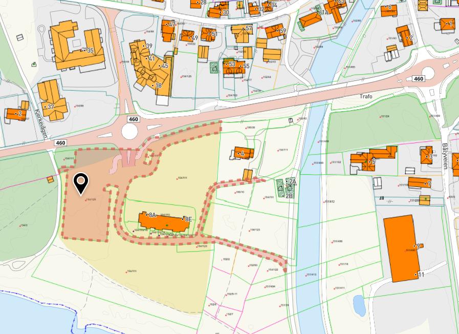 kart over ny plassering av hyttecontainer