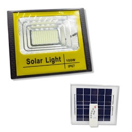 Proiector 100 W cu panou solar si telecomanda