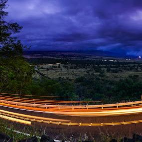 Lightssss by Matt Mcclenahan - City,  Street & Park  Night ( night photography, light trails, long exposure, hawaii, nightscape )