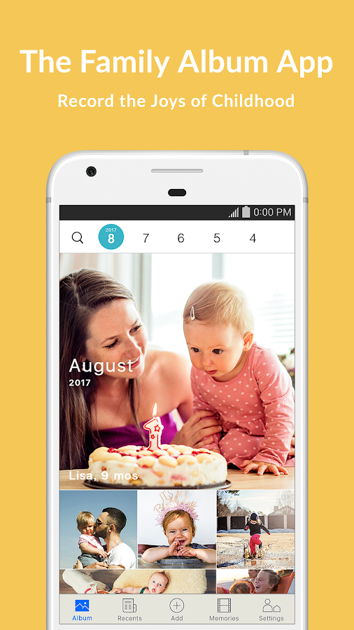 Family Album Mitene: Private Photo & Video Sharing- screenshot