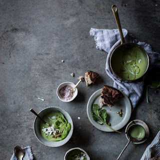 Chilled Avocado + Arugula Soup