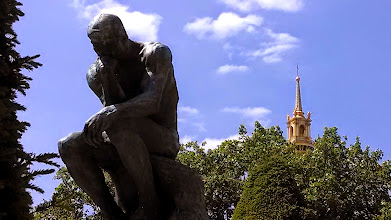 Photo: Rodin Museum - The Thinker with Invalides in background