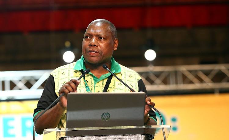 Outgoing ANC treasury-general Zweli Mkhize declines nomination for deputy president of the party during the 54th ANC National Elective Conference held at Nasrec. Picture: MASI LOSI
