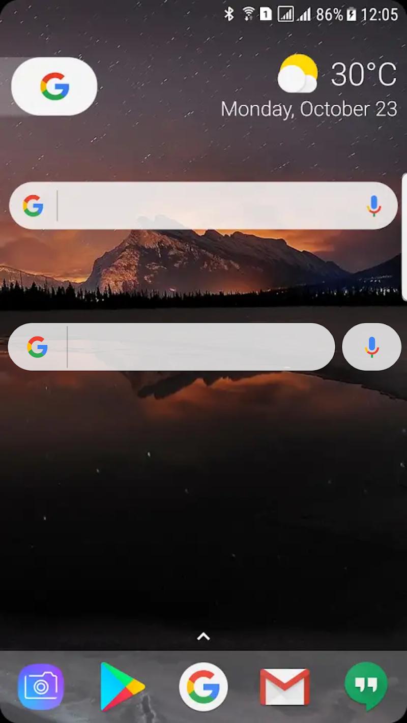 Vizorg Widget - Configure search bar Screenshot 0