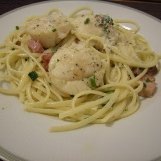 Linguine with Scallops and Pancetta.