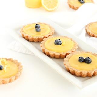 Mini Meyer Lemon Tarts with Shortbread Crust Recipe