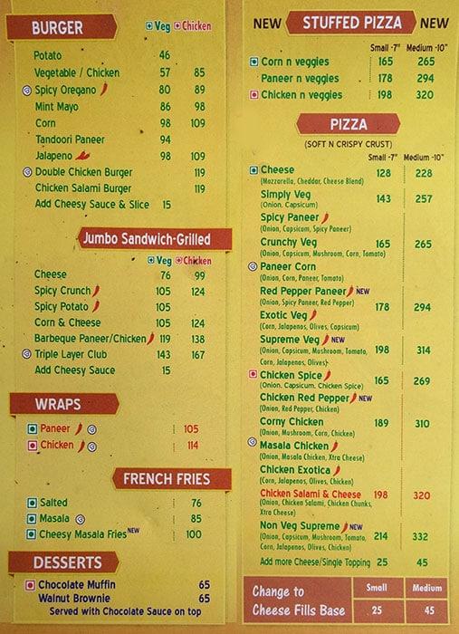 Baked Buns menu 2