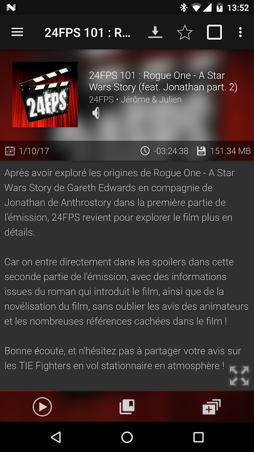 Podcast & Radio Addict – Capture d'écran