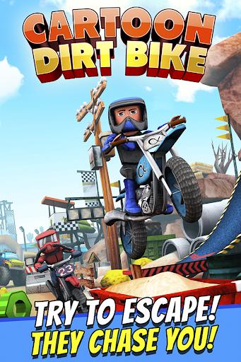 Cartoon Dirt Bike Runner