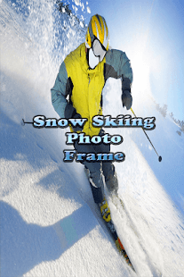 Snow Ski Photo Frame - Snow Surfing Photo Frame - náhled