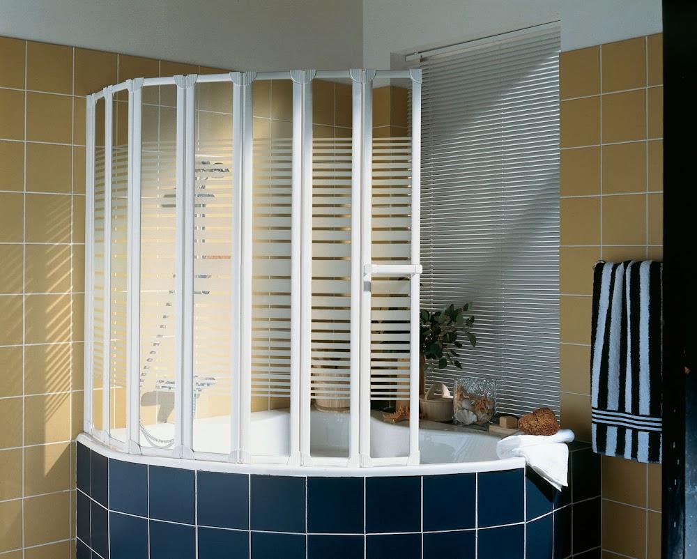 4 5 ou 7 volets pare baignoire eden plus 158 x 140 cm 7 volets profile blanc