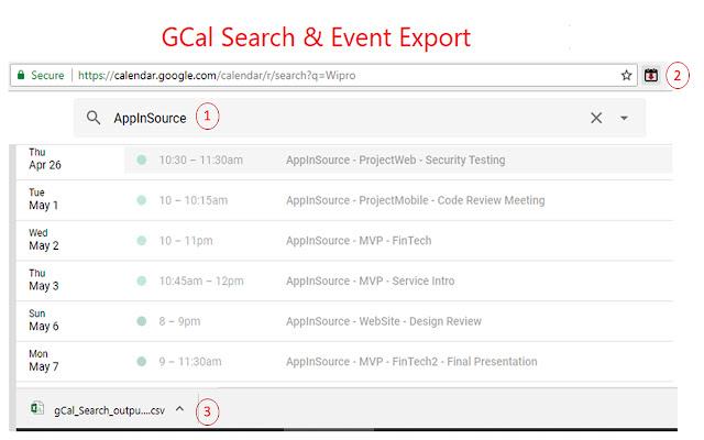 Google Calendar Export GCal to CSV