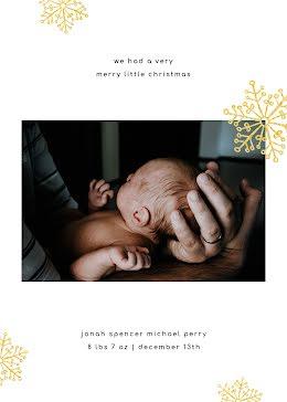 Jonah's Birth Announcement - Baby Card item