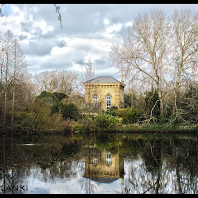 reflection of old memory by Jinesh Solanki - Buildings & Architecture Other Exteriors ( cool, sky, hdr, london, blue, green, peace, battersea park, high dynamic range )