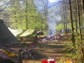 Photo: Das Camp am Morgen